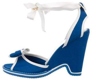 Marc Jacobs Bow Lace-Up Wedges
