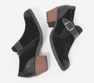 Earth Origins Suede Booties with Buckle Detail - Oakland Addie
