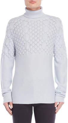 Emporio Armani Scalloped Knit Turtleneck Sweater