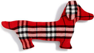 "Martha Stewart Collection Plaid Pup 14"" x 24"" Decorative Pillow, Created for Macy's"