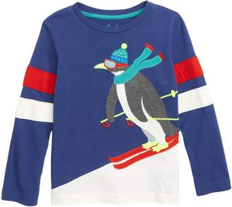 Boden Mini Winter Sports Applique T-Shirt
