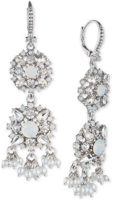 Marchesa Crystal & Imitation Pearl Double Drop Earrings