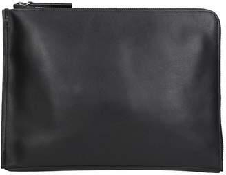 Calvin Klein Jeans Black Leather Prime Fold Document