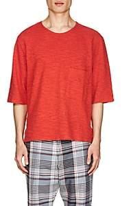 Barena Venezia Men's Thin-Striped Cotton Boxy T-Shirt - Red