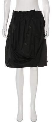 Louis Vuitton Knee-Length Button-Up Skirt
