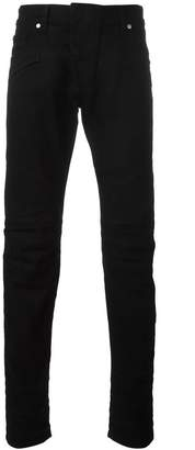 Pierre Balmain panelled slim-fit jeans
