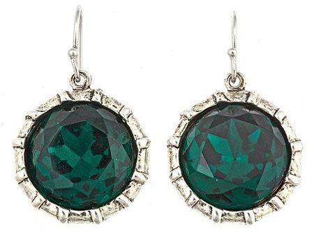 Gerard Yosca Emerald Crystal Drop Earrings