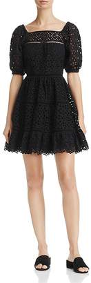 Rebecca Taylor Amora Eyelet Ruffle Dress $550 thestylecure.com