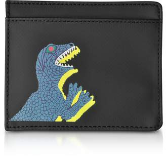 Paul Smith Black Nylon and Leather Dino Card Holder