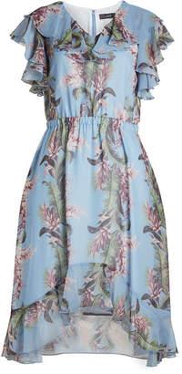 Steffen Schraut Flower Print Dress with Ruffles