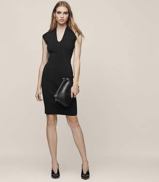 Reiss JASMINE KNITTED BODYCON DRESS Black