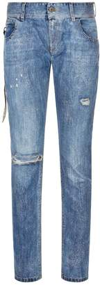 Faith Connexion Glitter Distressed Skinny Jeans