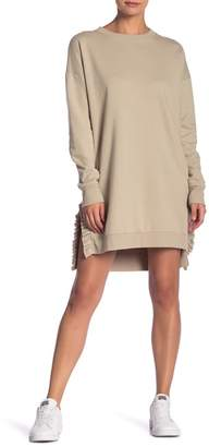 Solutions Side Ruffle French Terry Knit Dress