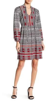 Angie Self Tie Split Neck Dress