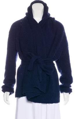 Halston Wool Knit Cardigan
