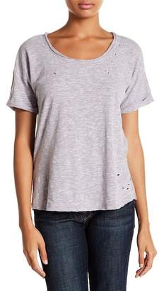 Melrose and Market Deconstructed Drop Shoulder Crew Neck Tee (Regular & Petite)