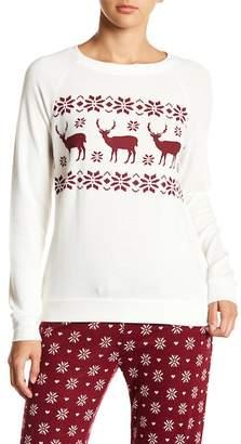 PJ Salvage Long Sleeve Graphic Print Pajama Top
