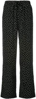 P.A.R.O.S.H. wide leg polka dot trousers