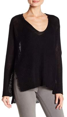Acrobat V-Neck Linen Knit Pullover