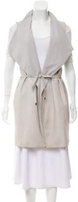 Vince Leather Longline Vest