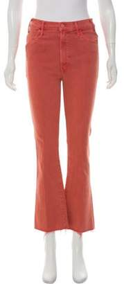 Mother High-Rise Straight-Leg Jeans w/ Tags Coral High-Rise Straight-Leg Jeans w/ Tags
