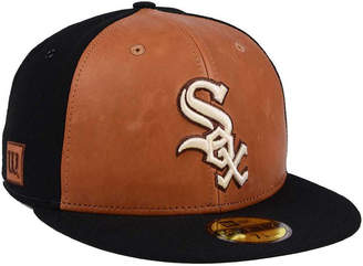 New Era Chicago White Sox X Wilson Leather Front 59FIFTY Fitted Cap