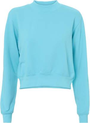 Cotton Citizen Milan Aqua Cropped Sweatshirt