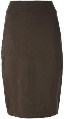 3a45244ab4b2 Brown Wool Pencil Skirt - ShopStyle