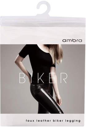 Ambra Faux Leather Biker Legging AMLEBIKER