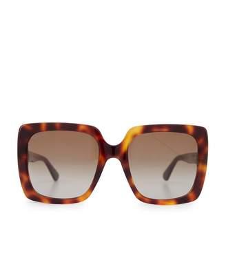 f67e870a8d6 Gucci Glitter Square Sunglasses Colour  HAVANA