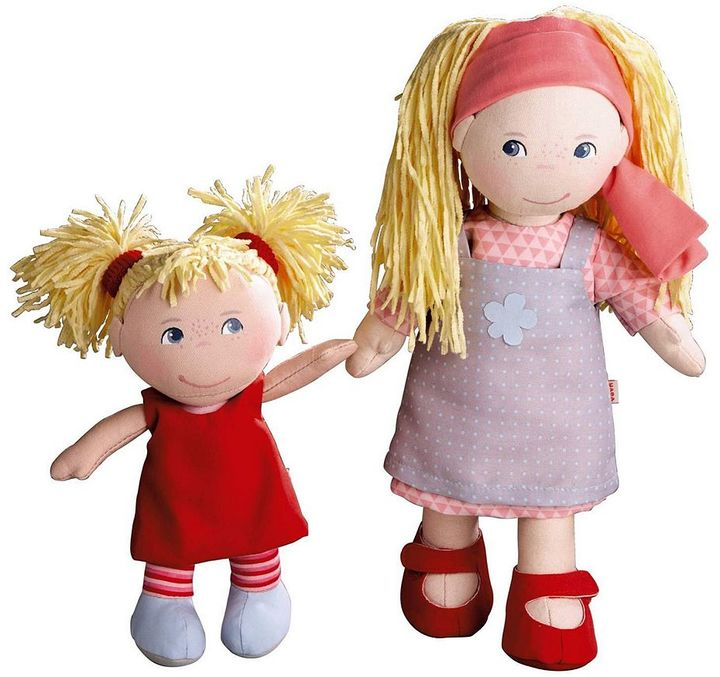 Haba HABA Sisters 12-in. Lennja & 8-in. Elin Dolls