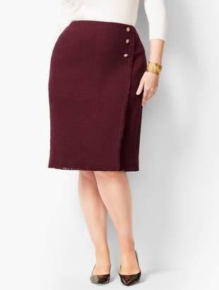 a6688a6eae1 Talbots Fringed Tweed Pencil Skirt