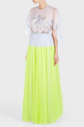 DELPOZO Long Tulle Skirt