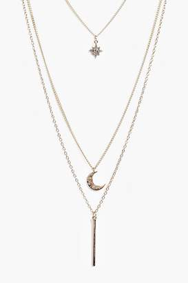 boohoo Erin Skinny Pendant Necklace Pack