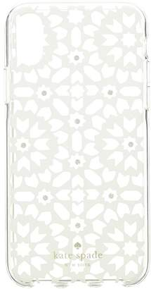 Kate Spade Jeweled Floral Mosaic Clear Phone Case for iPhone Cell Phone Case