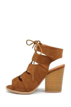Qupid Corset-Chunky Heel