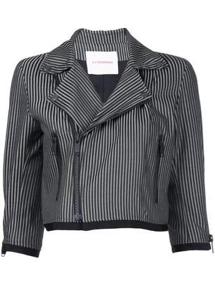 A.F.Vandevorst stripe cropped jacket