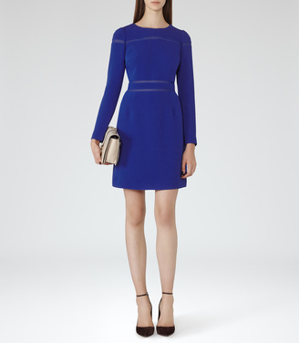 Gigi SHEER-STRIPE DRESS $360 thestylecure.com