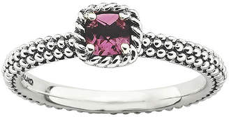 JCPenney FINE JEWELRY Personally Stackable Genuine Pink Tourmaline Antiqued Ring