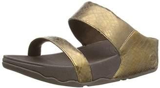 FitFlop Women's Lulu Metallic Snake Slide Sandal $42.93 thestylecure.com