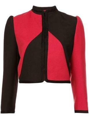 Gucci Crop Geo Print Bicolor Jacket