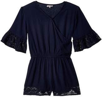 Ella Moss Voile Romper with Lace Trims Girl's Jumpsuit & Rompers One Piece