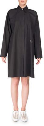 Acne Studios Spread-Collar Long-Sleeve Oversized Poplin Shirt Tunic