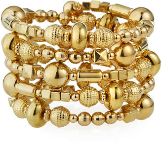 Emily and Ashley Greenbeads by Golden Bead Wrap Bracelet