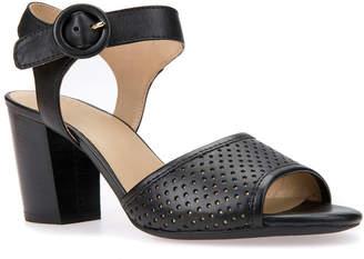 137b4bba2c801 Geox Eudora Leather Heeled Sandal