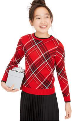 Charter Club Big Girls Plaid Family Sweater