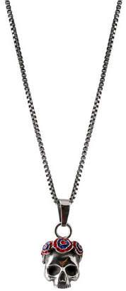 Tateossian Men's Skull Pendant Necklace, Silvertone