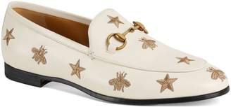 Gucci Jordaan Embroidered Bee Loafer