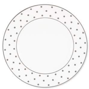 Kate Spade Larabee Road Platinum-Accented Bone China Dinner Plate