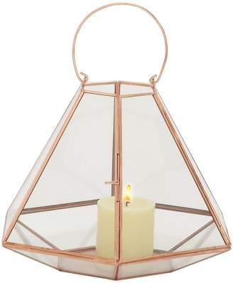 Uma Modern Hexagonal Candle Lantern
